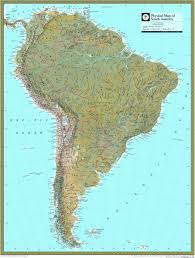south america map atlas national geographic south america physical map maps
