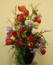 Silk Flowers Arrangements - greens by white corporate plant rental and special events