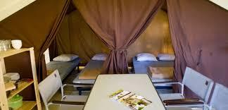 tente 8 places 4 chambres le nid du parc tentes toiles et bois le nid du parc