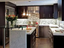 kitchen modern small kitchen remodel ideas with cool backsplash modern small kitchen remodel ideas with cool backsplash also dark brown cabinets colors and white countertops with large refrigerator beautiful small