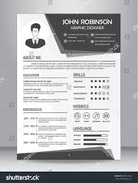 Casual Job Resume by Job Resume Cv Template Layout Template Stock Vector 450943444