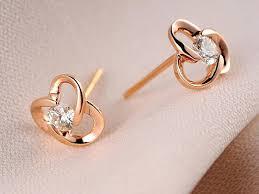 gold second studs tiny diamond stud earrings small white gold earrings small diamond
