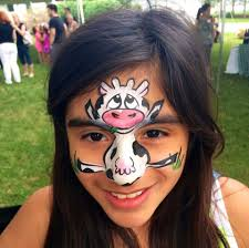 margi karter cow face painting design face painting ideas