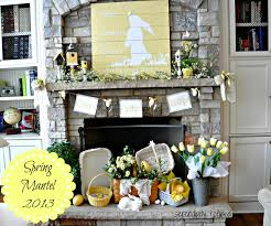 easter home decorating ideas here comes peter cottontail spring mantel mantels easter and