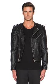 leather motorcycle clothing the kooples washed lamb leather motorcycle jacket in black for men