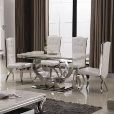 marble and stainless steel dining table dian chen selling home furniture drawer storage cabinets simple four