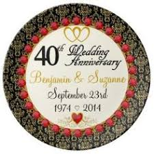 40th anniversary plate vintage 40th anniversary porcelain plate celebrate in style with