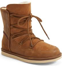 womens ugg boots with laces ugg lodge water resistant lace up boot nordstrom