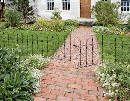 Decorative Garden Fencing Different materials used for