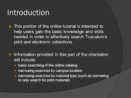 online tutorial library garland library online orientation introduction this portion of