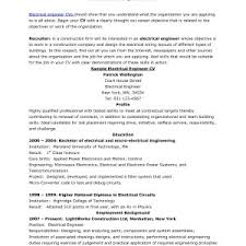 electrician resume exles resume objectives exles professional best of printable career