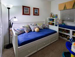 queen size daybed kids transitional with animal decals beadboard