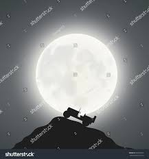 christmas jeep silhouette full moon jeep stock vector 603555206 shutterstock