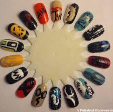 my fandoms nail art wheel