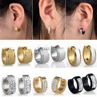 hoop huggie best earrings steel to buy buy new earrings steel