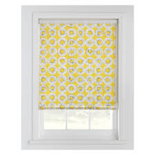 evelyn yellow patterned roller blind 122 x 160cm buy now at