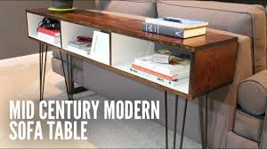build a mid century modern sofa table youtube