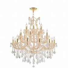 Crystal And Gold Chandelier Maria Theresa 28 Light Gold Finish And Clear Crystal Chandelier