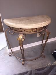 half circle accent table accent half round table with marble top invio fine furniture half