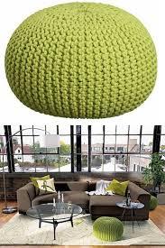 knitted pouf plans u2013 rachel laine designs