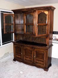 Kitchen Hutch Ideas Kitchen Wooden Kitchen Furniture Hutch With Display Shelves