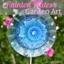 painted plates garden art garden art paint plates and gardens