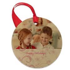 wooden photo ornament custom ornaments winkflash