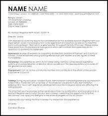 cover letter assistant assistant registrar cover letter sle livecareer