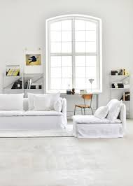 living room couch decor modern white floor lamp industrial style