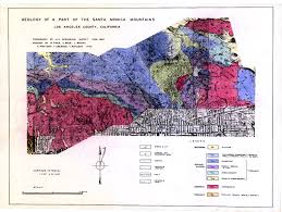 Map Of Santa Monica Geology Of A Part Of The Santa Monica Mountains Los Angeles