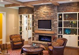 interior stacked stones fireplace ideas be equipped with rustic