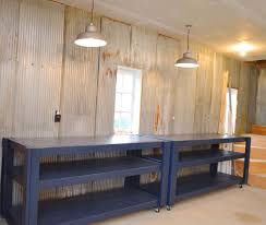 Work Benches With Storage Barn Rolling Workbenches In Behr Starless Night Newlywoodwards