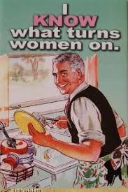 Washing The Dishes Meme - know what turns women on man washing dishes vintage poster