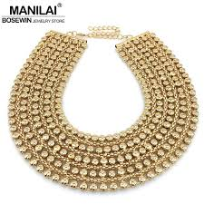 jewelry statement necklace images Buy manilai chunky metal statement necklace for jpg