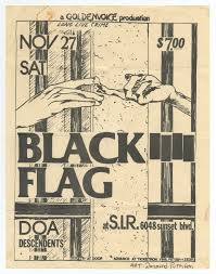 Black Flag Nervous 16 Black Flag Flyers Raymond Pettibon Black Flag