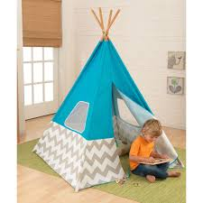 Kids Teepee by Kids Teepee Play Tent In Turquoise Grey U0026 White Children Cuckoola