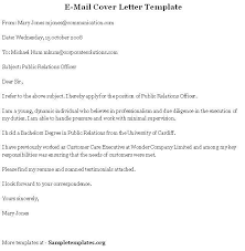 email cover letter example email cover letter example for summer