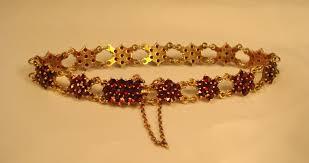 antique garnet bracelet images Sold items facets of history jpg