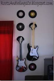 Guitar Home Decor Rootsandwingsco Rock And Roll Home Décor Vinyl Record Guitar Holder