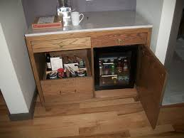 Microwave Inside Cabinet Varnished Mahogany Cabinet With Shelves And Mini Refrigerator Plus