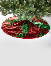 and green reversible sequin tree skirt stage stores