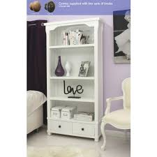 Bookcase With Drawers Hampton White Painted Bookcase With Drawers