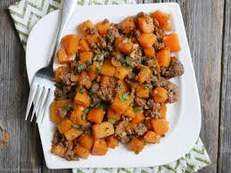 cuisine butternut spicy ground beef and butternut squash my beets