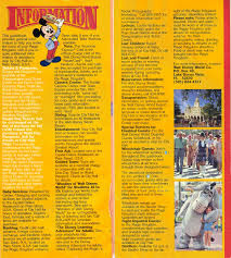 Magic Kingdom Map Orlando by Magic Kingdom Park Map 1986