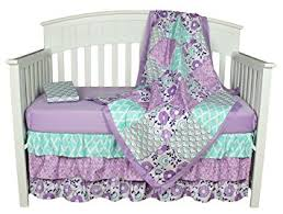 Purple And Teal Crib Bedding Purple Baby Bedding Zoe 4 In 1 Bedding Set By The
