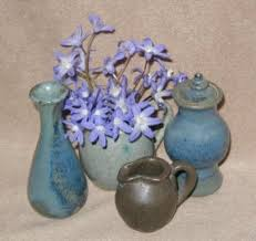 Blue Vase Story Stoneflower Pottery U0026 Tin Mommy Vases By Elaine Hardman