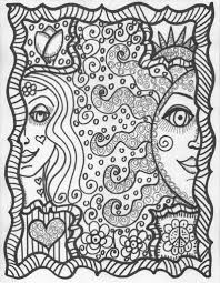 coloring page hippie coloring pages coloring page and coloring