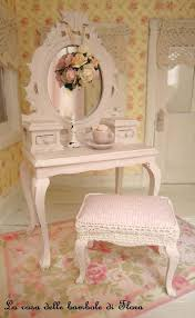 Girls Vanity Table And Stool Miniature Pale Pink Princess Dressing Table And Stool