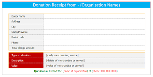 donation receipt template for word dotxes
