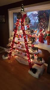 ladder christmas tree christmas tree ladder i made for my album on imgur